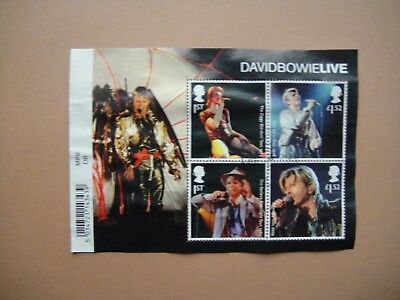 Great Britain 2017. David Bowie. Mini-sheet used.