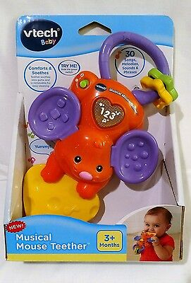 VTech Baby Musical Mouse Teether NEW