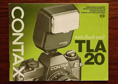 Contax TLA20 flash instruction manual - genuine original