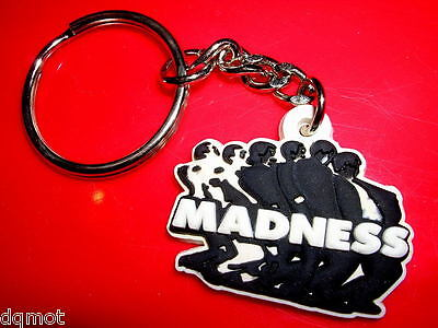 Madness - Small Embossed Rubber Keyring - Suggs Ska Two Tone Specials Stiff
