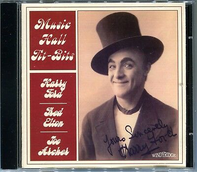 GRAMOPHONE MUSIC HALL - CD Harry Ford, Gus Elen, from 1900s G&Ts NEW