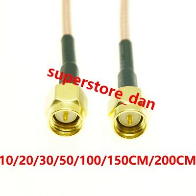6/12/40INCH SMA Male Plug To SMA male Crimp lot Jumper Pigtail FPV RG316 Cable
