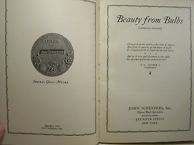 """John Scheepers """"beauty From Bulbs"""" Catalog-1923-American Edition"""