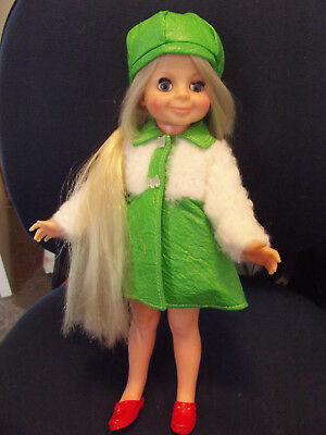 Beautiful Vintage Velvet Doll of Crissy Family in brand new from packet outfit