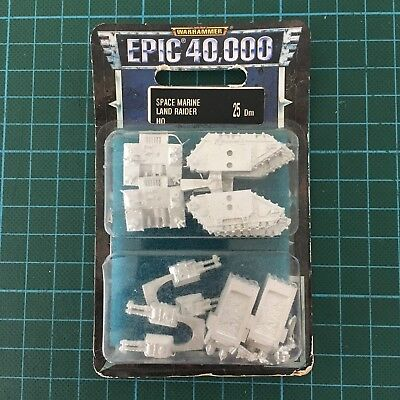 Epic 40k Space Marines Land Raider HQ Metal Blister Rare OOP