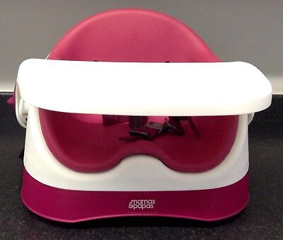 Mamas & Papas Baby Bud Booster Seat High Chair - Raspberry RRP £60 SUPERB!!!