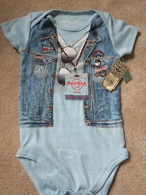 hard rock cafe baby vest new