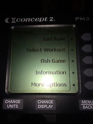 Indoor concept 2 rower/rowing machine with pm3 monitor in good working order