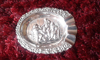 Beautiful Solid Silver Dutch Ashtray, hallmarked. Excellent condition.
