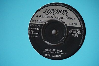 "KETTY LESTER River of Salt/You Can't Lie UK LONDON G+ VINYL 7"" Northern SOUL 45"