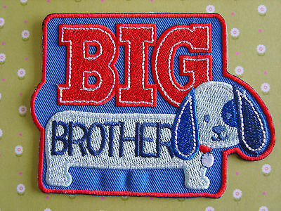 1 x Big Brother Sew On/Iron On Embroidered Patch Badge Applique DIY Motif