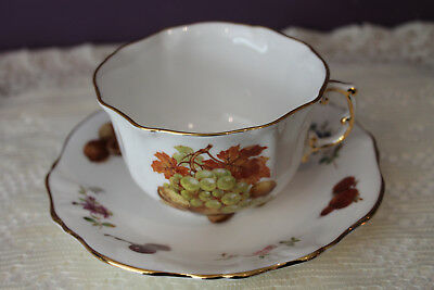 Hammersley England Spode Group  Tea Cup And Saucer  Fruit, Flowers, Nuts, Leaves