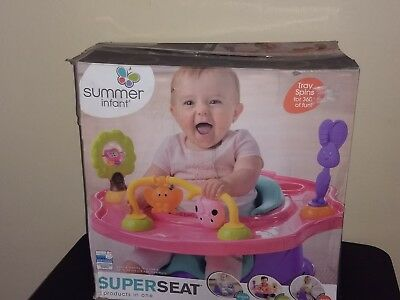 Super Seat  SUMMER 3-Stage Infant Positioner Booster and Activity Seat, Pink