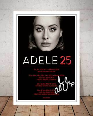 Adele 25 Live 2016 Concert Flyer Autographed Signed Photo Print