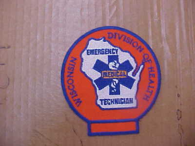 Wisconsin Division of Health EMT Patch medical