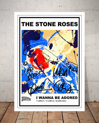 Ian Brown The Stone Roses I Wanna Be Adored 1991 Poster Autographed Photo Print