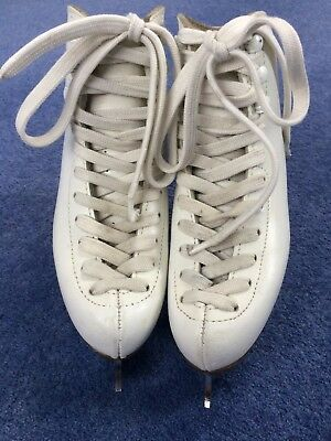 Risport Laser White Figure Ice Skates Size UK Childrens 13 Good Condition