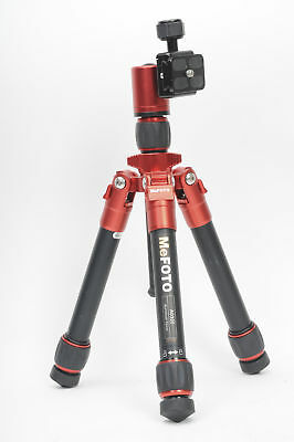 MeFOTO DayTrip Tripod A0320 Kit w/Head Red w/QR Plate Included              #058
