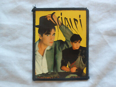 SCIALPI/FAN CLUB PATCH/italo disco/pop rock/mtv/sandy marton/1990 ULTRA RARE