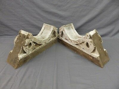Pr Antique Angled Corbels Roof Bracket Victorian Shabby Cottage Vtg Chic 493-17P
