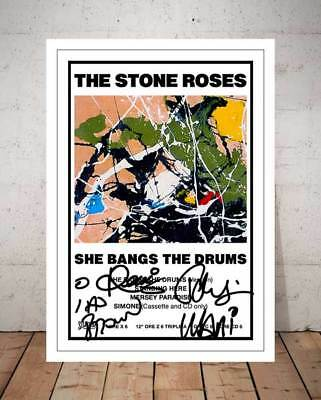 Ian Brown The Stone Roses She Bangs The Drums 1989 Autographed Photo Print