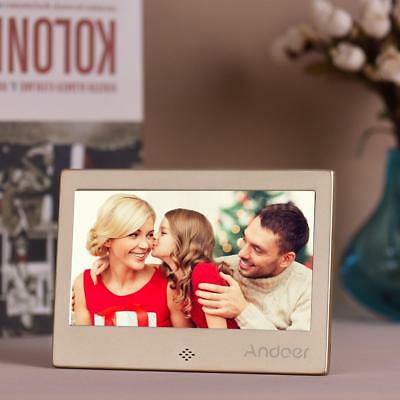 "Andoer 7"" HD Digital Photo Picture Frame Multimedia Player + Remote Control M5U7"