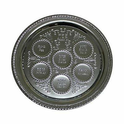 Passover Seder Plate Judaica Silver Plated Ultra Light Weight