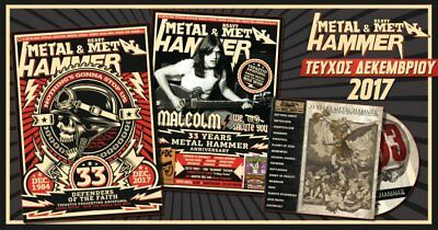 Greek Metal Hammer Magazine 12 / 2017 Malcom Young + Cd + Poster Ac/dc