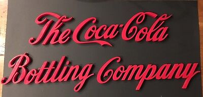 """ONE OF  A KIND!  """"The Coca-Cola Bottling Company"""" Signage - Script Lettering"""