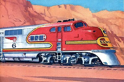 Usps Postal Card Famous Trains Super Chief From The Santa Fe Railroad