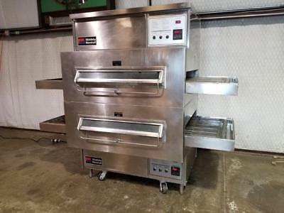 "Middleby Marshall Ps360 Natural Gas Double Stack Conveyor Pizza Ovens 32"" Belt"