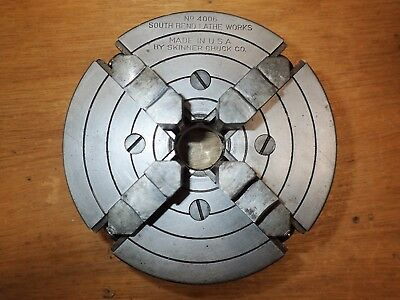 """South Bend Skinner 6"""" 4-Jaw Independent Chuck 4006 1-1/2"""" 8tpi"""