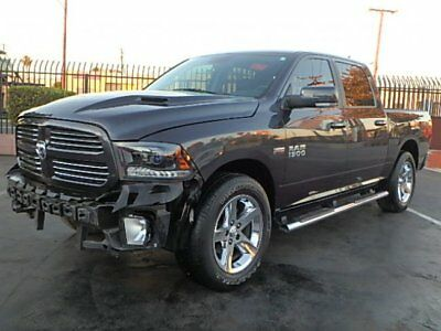 2015 Dodge Ram 1500 Sport Crew Cab 2015 Dodge Ram 1500 Sport Crew Cab Damaged Salvage Only 27K Mi Perfect Project!