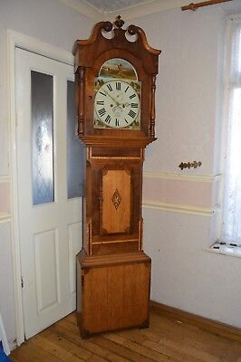 A LOVELEY 8 DAY LONGCASE CLOCK BY B MUSSON OF LOUTH WITH HUNTING DIAL c1875