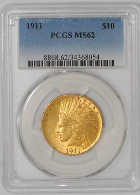 1911 $10 Gold Indian MS62 PCGS