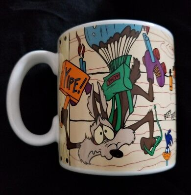 Wile E Coyote Super-Genius Looney Tunes 1995 Classic Mug by Applause