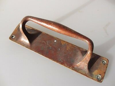 Antique Bronze Door Handle Shop Pull Pub Architectural Vintage Salvage Old  9""