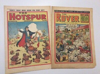 THE HOTSPUR & THE ROVER comics  Nos 1031 and 1622 (1956)