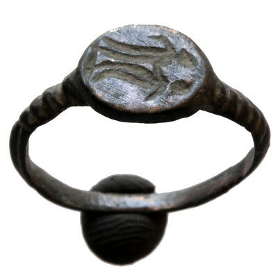 Museum Quality Late Byzantine Or Medieval Marriage Bronze Ring