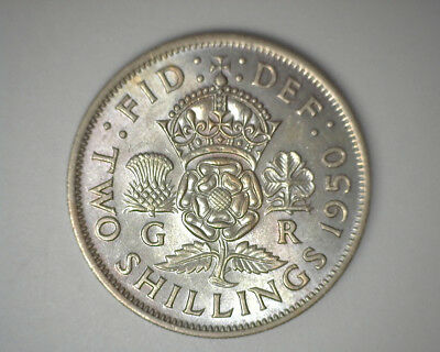 Great Britain 1950 Florin 2 Shillings Coin