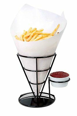Home-X French Fry Cone & Dipping Cup, French Fries Holder, Appetizer Cone