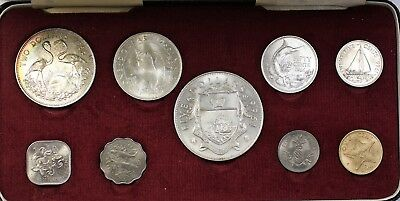1966 Bahamas Mint Set 7 Coins Brilliant Uncirculated in Original Red Box
