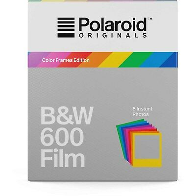 Polaroid Originals 4673 B&W Glossy Instant Film for 600 Cameras - Color Frames