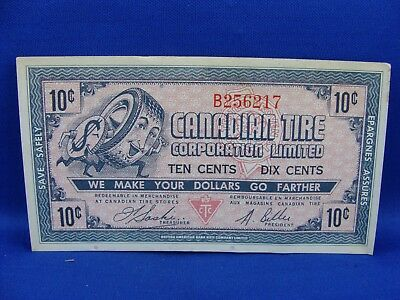 1958 Canadian Tire 10 Cent Note Coupon