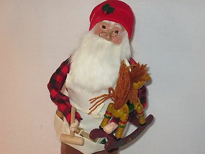 Byers Choice Retired 1994 Working Santa with Rocking Horse