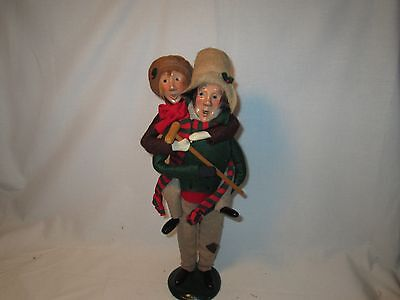 Byers Choice Retired 1991 Dickens 2nd Edition Bob Cratchit & Tiny Tim