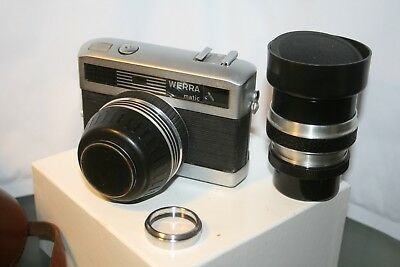 WERRA Metric rangefinder camera with 50mm + 100mm Carl Zeiss Jena Lenses