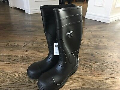 Tingley Rubber 31251.11 Steel-Toe Boots, Black PVC, 15-In., Men's Size 9 NEW!