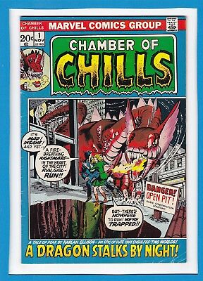 """Chamber Of Chills #1_November 1972_Fine+_""""a Dragon Stalks By Night""""_Bronze Age!"""