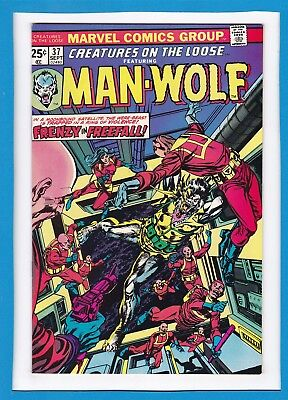 Creatures On The Loose #37_September 1975_Very Fine_Man-Wolf_Bronze Age Horror!